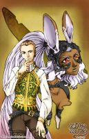 Balthier and Fran by vampirecheetah