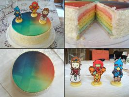 SSB Brawl cake by aquachaos