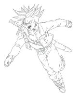 Trunks Taking Off. :Practice: by moxie2D