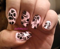 Hibiscus Flowers Nail Art by SoCUTEicleNails
