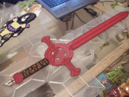 Adventure Time Demon Sword Perler by Neeko96