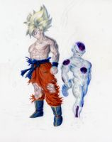 SS Goku and Frieza by mild-mannered