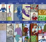 2013 summary of art by dragontaxi