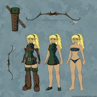 Elven Archer - Character Sheet by RoninDude