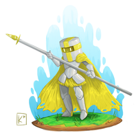 Yellow Knight Sketch by Radioactive-K