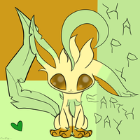 Happy Earth Day - Leafeon by catz537