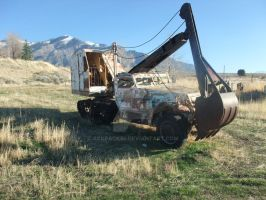 Half Track Backhoe by ackpack34