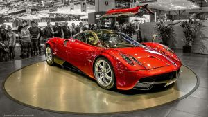Pagani Huayra - Red by pingallery
