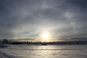 Winter halo by Uskall