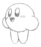 Kirby doodle by RocaN64