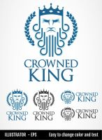 Crowned King - Logo Template by doghead