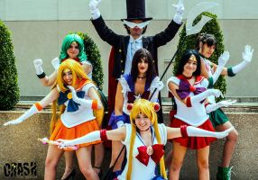 Sailor Moon - Code Name: Scouts Next Door by Nyxiie
