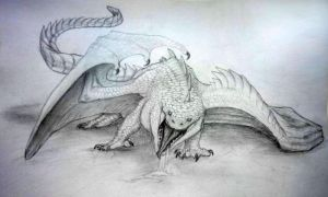 White dragon by WhiteRose2132