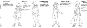 Digimon Tamers Alliance - cast relationship by Riza23