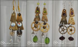 :: Steampunk earrings :: by Liek