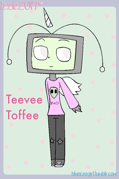 teevee the tv head toffee (gift) by blueiceegirlart