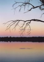 Sunset at an outback lake by Scapes-club