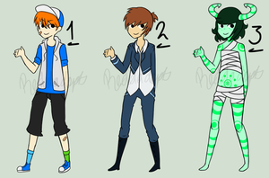 Adoptable Boys - Set 1 [CLOSED] by ReddAdopts