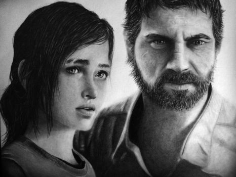 The Last of Us - Ellie and Joel by Names76