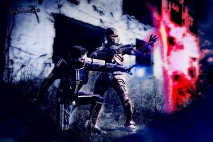 Shepard and Kaidan Cosplay - Mass Effect 3 Biotic by LeonChiroCosplayArt
