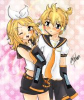 Rin+Len by angel-athena