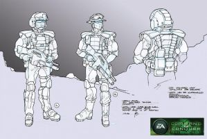 GDI Standard Soldier Concepts by HK-887