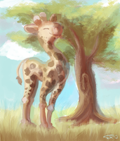 giraffe by blubified