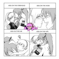 Vocaloid cute kiss by Debby-sensei8D