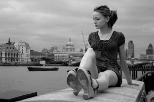 a Girl in London by AlperSargin