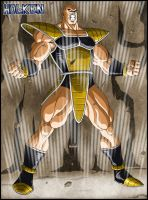 Nappa in armor by DBZwarrior