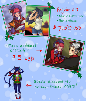 Holiday Commissions Sale by biobanana