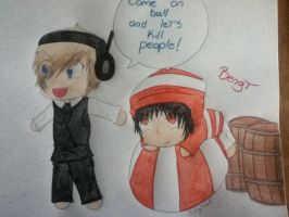 Pewdie and Bengt by judy2468