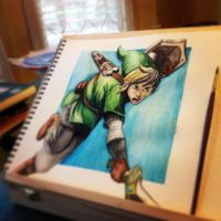 Watercolor Link by DrawingJacob