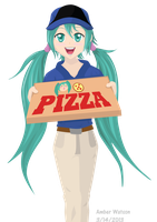 Miku's Pizza Delivery by TheKohakuDragon