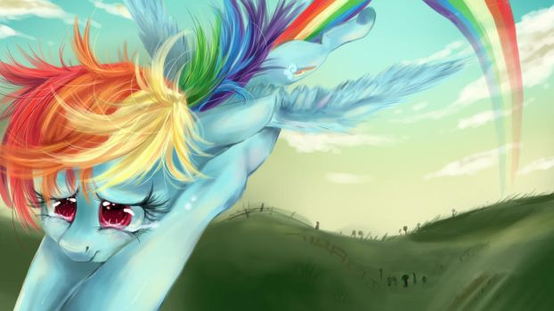 Rainbow Dash thinks of her Friends. by dream--chan