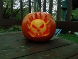 Ghost Rider Pumpkin by colormist