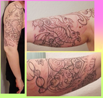Right arm tattoo - 1st session by bejja