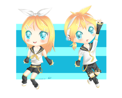 Vocaloid: Kagamine Rin and Len by Zunnylz