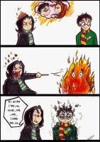 Snape vs. James by Ashwin24