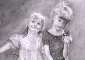 Two Sisters by CaroleHumphreys
