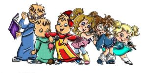 chipmunks and chipettes by Jeanettechipettedoll