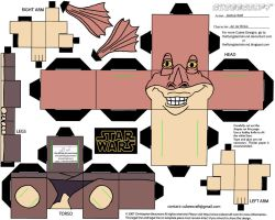 SW1: Jar Jar Binks Cubee by TheFlyingDachshund