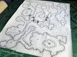 Game Scale Hex Dungeon Map by Pasiphilo