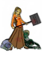 Imogene  vs Zombies by TRALLT