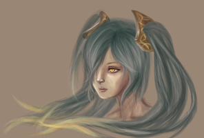 Sona-Digital Painting by yatsuakumahichigo