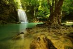 Erawan Waterfall by comsic