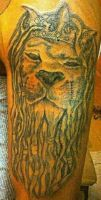 Rasta Lion tattoo by blaketats