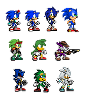 Sonic character sprite dump by TheBlackHex