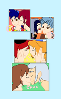 OC Couples: Kisses by tifafenrir09