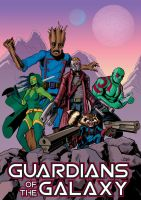 Guardians of the Galaxy (colored) by sirandal